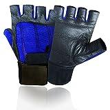 Prime Leather Voll GEPOLSTERT Hohe Qualität Gewichthebe-Handschuhe Lang Handgelenksbandage...