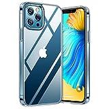 TORRAS Diamond Series für iPhone 12 Pro Max Hülle Extrem Transparent (Vergilbungsfrei) Starke Stoßfestigkeit Schutzhülle Hard PC Back & Soft Silikon Bumper Handyhülle iPhone 12 Pro Max-Durchsichtig