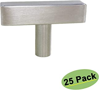 homdiy Kitchen Cabinet Knobs Brushed Nickel 25 Pack HDJ22SN Single Hole Pulls with 2inch Overall Length Brushed Nickel Door Knob Kitchen Hardware for Cabinets Sliver Drawer Knobs