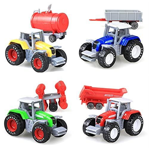 Chuanfeng 4 Stück Spielzeugtraktor Mit...