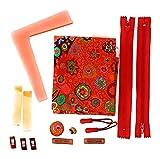 Stoff-Näh-Set (Material) rot mit Designerstoff von Kaffe