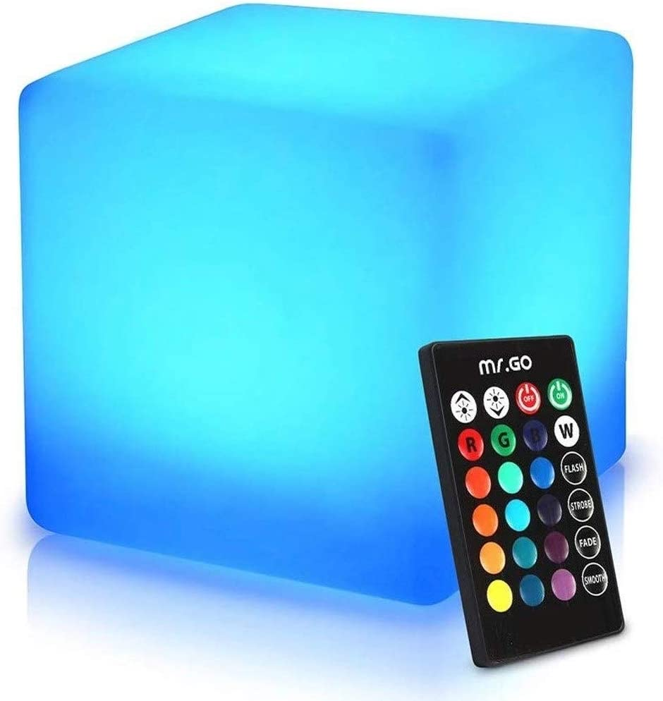 WASS6 LED RGB Cube Light 16 with Color Fresno Mall Remote L Control Max 46% OFF Changing