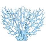Planta de Coral Artificial, Adorno subacuático de decoración de Acuario de plástico Vivo para Acuario(L-Azul)