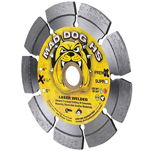Mad Dog HS Diamantklinge für allgemeine Zwecke zum Schneiden von Beton, Mauerwerk, Dachziegel, Stein und ähnlichen Materialien
