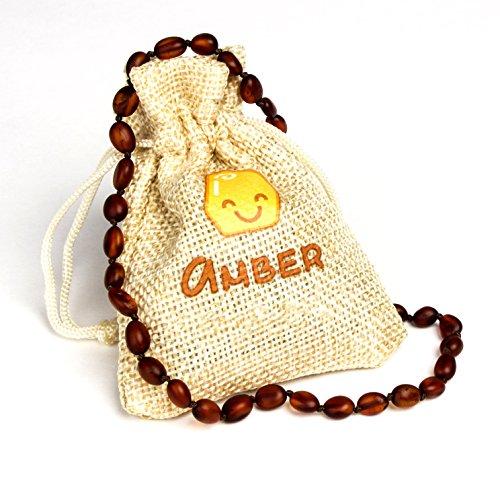 Baltische barnsteen ketting | maat 31-33 cm | 100% natuurlijke & handgemaakte Amber kralen sieraden | Lab getest & gecertificeerd door Amber Certificate Inst. | Gemat Geel