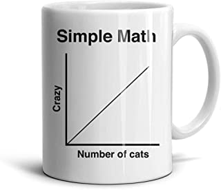 FGHGFFG Simple Math Number of Cats Funny Lovely White Home Water Mugs Cup Large 11oz330ml