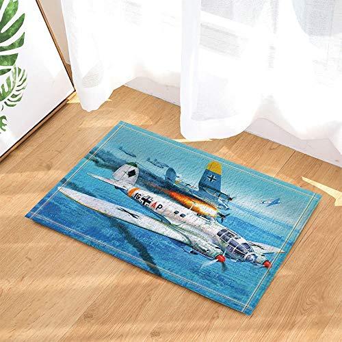 Vliegtuig oceaan sky battle crash Kinderbadkamer tapijt toiletdeur mat woonkamer 40X60CM badkameraccessoires