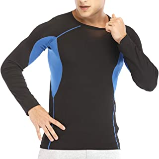 MORECOO Men's Long Sleeve T-Shirt Cool Dry Compression Top Workout Shirts for Men