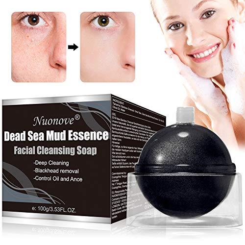 Akne Seife, Seife Schwarz, Seife Handgemacht, Gesichtsreinigungsseife, Seife Gesicht, Reinige Gesicht und Körper für alle Hauttypen, Für Akne Prone Haut, Klare Akne Mitesser und Macht die Haut weich