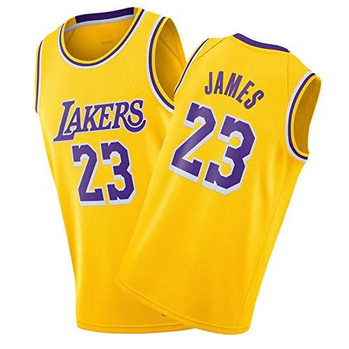 Camiseta de baloncesto de LěBrHn Jǎměs, edición limitada 2020 – 2021 para hombre, 23 finales de la ciudad, camiseta de medalla de oro amarillo-XXL