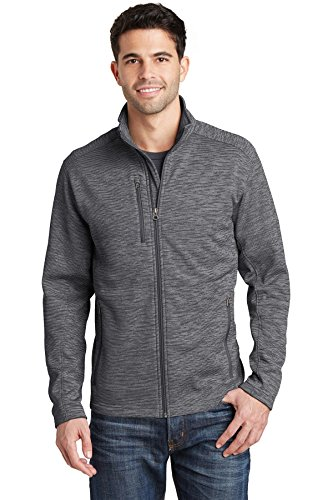 Port Authority Mens Digi Stripe Fleece Jacket F231 -Black L