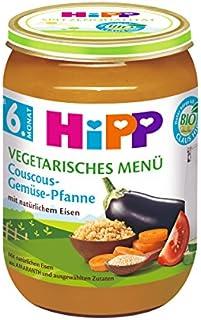 Hipp Vegetarisches Menü, Couscous-Gemüse-Pfanne, 6er Pack (6 x 190g)