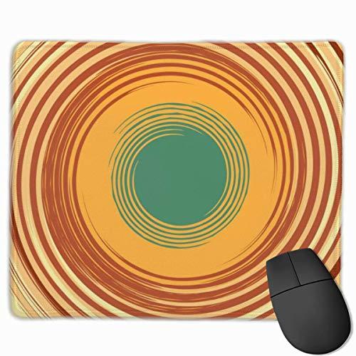 Rutschfester Mauspad abstrakter Hintergrund mit Whirlpool-Platzmousepad mit rutschfester Gummibasis, Softcomputertastatur-Mauspad für PC, Laptop