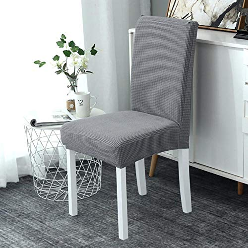 2020 nieuwe goedkope jacquard eetkamerstoelbekleding spandex elastische eetkamerstoelbekleding keukenkoffer voor stoel stretch dikker gebreid, g226433, 6 stuks