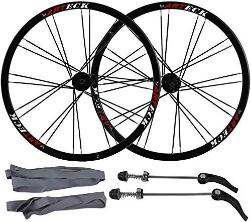 Roues de vélo Roues Vélo Course 26 pouces jantes de bicyclettes en alliage d'aluminium, VTT essieu des roues à dégagement rapide de frein à disque à double paroi roue avant de la roue arrière Palin Ro