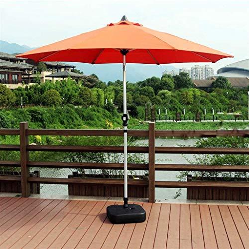 Parasol de jardín al aire libre de 2,7 m, portátil, móvil, balcón, sombrilla de playa, parasol con mecanismo de inclinación para el mercado de eventos comerciales y de vacaciones (color: naranja)
