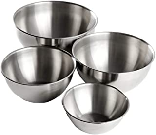 YANXUAN Mixing Bowls 304 Stainless Steel Nesting Bowls, Heavy Duty Baking Cooking Bowls, Set of 4
