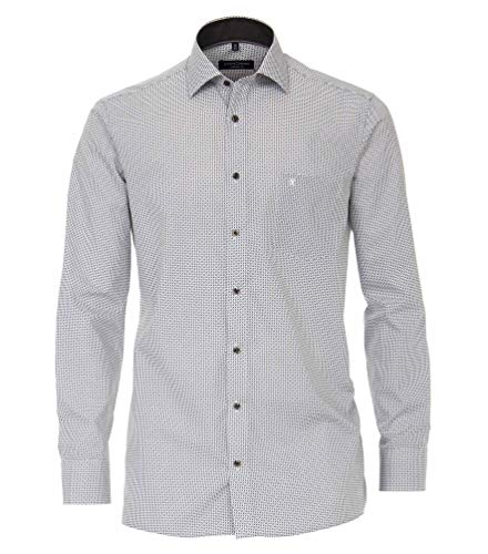 Casa Moda - Comfort Fit - Bügelleichtes Herren Business Langarm Hemd (303425800), Kragenweite:45, Farbe:Anthrazit (750)