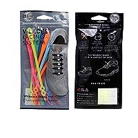 【くつひも3.0】結ばない靴紐 調節可能 付けやすい ワンボタン式 弾力性 ゴムくつひも 14本セット