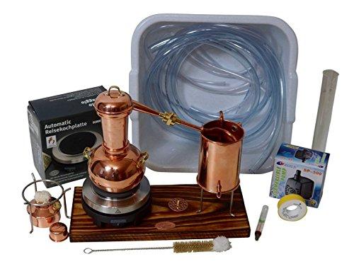 CopperGarden Elektrische Tafelblad Distilleerketel Arabia 0,5 L Supreme in Zorgenvrij-Set