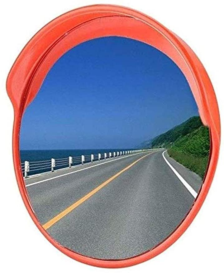 散歩に行くテレビ難しい高速道路用ミラー、耐候性屋外凸面ミラー耐久性のある取り付けが簡単安全広角レンズ直径:80CM(サイズ:80CM)