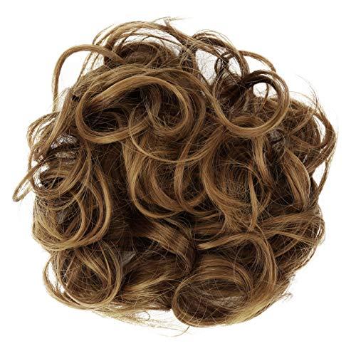PRETTYSHOP XL Haarteil Haargummi Hochsteckfrisuren Brautfrisuren Voluminös Gelockt Unordentlich Dutt Hellbraun Mix G16E