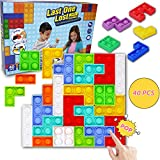 Push Bubble Sensory Toys, 40 Pcs Tetris Jigsaw Puzzle Fidget Toys Pop it, Push Pop Bubble Fidget Sensory Toy,Pressure Relieving Toy,Autism Special Needs Stress Reliever,Squeeze Toys for Kids Adults