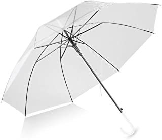 Fashion Transparent Clear Automatic Umbrella Parasol for Wedding Party Favor Luggage