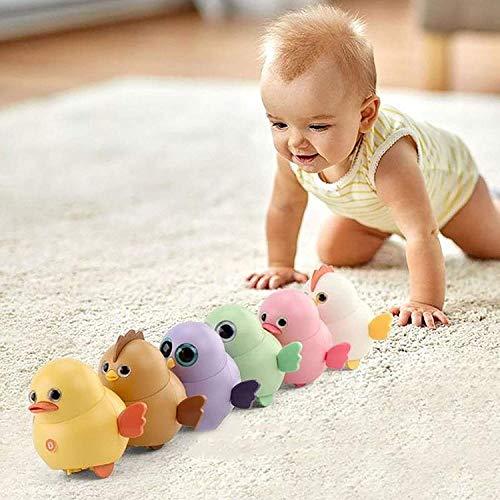 6Pcs Polluelo Oscilante Eléctrico,Lindos juguetes oscilantes magnéticos eléctricos para caminar,Divertido Juego Interactivo de búho de Pato y Pollo,Perfecto Regalo para Niños.