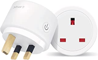 Trust WiFi Socket UK – WiFi Socket, Smart UK Socket That Works with Phone/Tablet, Google Nest and Amazon Alexa – White