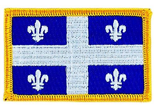 Patch Aufnäher Bestickt Flagge Quebec Flag zum Aufbügeln Kanada Backpack