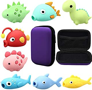 RHCPFOVR 9PCS Cute Animal Cable Bites Storage Bag,Various Animal Cable Cord Data Line Cell Phone Accessories Protects Creative Gift
