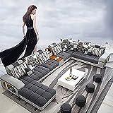 WSN Rinconera sofá,Sofá de Esquina Grande Sofá de Tela Muebles de la Sala de la Mano Izquierda Mano Derecha