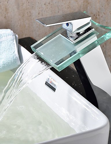 Grifo de cocina con monomando tipo cascada para lavabo de cristal grifo...