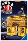 Ravensburger- Puzzle 3D Arco del Triunfo Night 216 Piezs. (12522)
