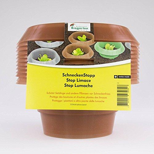 Andermatt Biogarten AG SchneckenStopp PP, braun, Set à 12 Stück