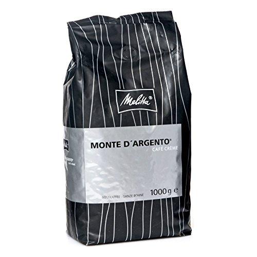 Melitta Monte D'ARGENTO Cafe Creme - 8 x 1kg ganze Kaffee-Bohne