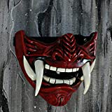 tripple_777 Samurai Oni Mask for Paintball Airsoft Gun Halloween Costume Ninja Cosplay Bushido Armor Sword Motorcycle Helmet D500