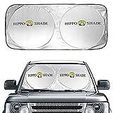 Hippo Sonnenschutz Auto, Auto Sonnenschutz Frontscheibe Innen Sonnenschutz für Windschutzscheibe,...
