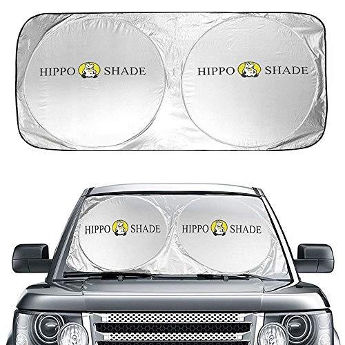 Hippo Sonnenschutz Auto, Auto Sonnenschutz Frontscheibe Innen Sonnenschutz für Windschutzscheibe, Faltbarer Sonnenschirm für Auto Sonnenblende Auto UV Schutz Universal für Auto, SUV, LKW - 160 x 90cm