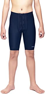 LEAO Youth Boys Swim Jammers Solid Swimsuit UPF 50+ Sun...