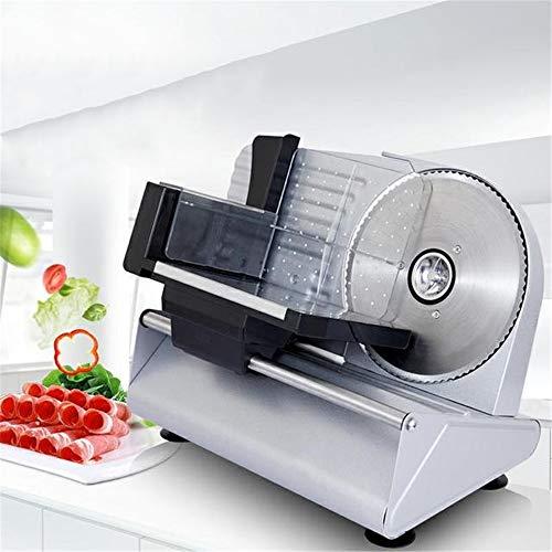 Trancheuse électrique commerciale de nourriture 200W, trancheuses de pain de légume de pain de fruit de fruit de viande, bouton réglable pour l'épaisseur, pieds antidérapants, pour l'usage de cuisine
