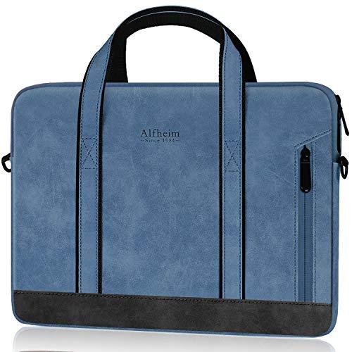 Alfheim Valigetta in Pelle Manica Adatta per Borse da Lavoro per Laptop da 15.6-16 Pollici per Borse a Tracolla da Viaggio per Uomo e Donna