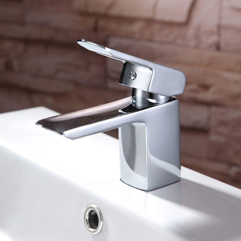 XHCP Waschtischarmatur Waschbecken Wasserhahn - Wasserfall Chrom Centerset Einhand EIN Loch