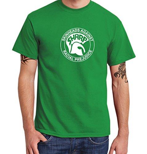 - Sharp - Skinheads Against Racial Prejudice - Boys Shirt Irish Green, Größe L