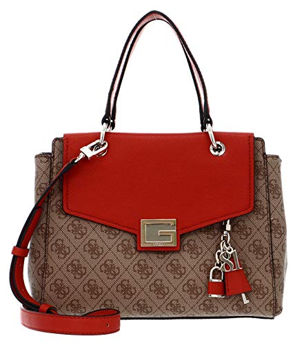GUESS Valy Small Girlfriend Satchel Rust