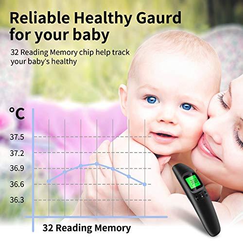 Termometro Digitale, SOYES Senza Contatto Termometro, Funzione Frontale di Memoria, Termometro a Infrarossi 3 In 1 con Display a Led Perbambini, Adulti e Oggetti, Letture Istantanee Accurate