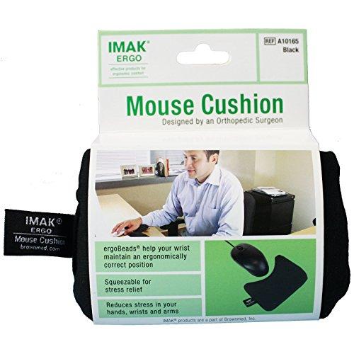 Imak 570951 Cushion Ergobeads Wrist Rest Black (A10165)