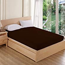 AVI Waterproof and Dustproof Terry Cotton Mattress Protector King Size Bed - Brown (72 X 78 inches)