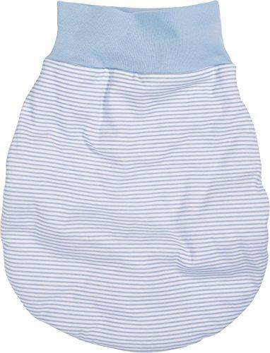 Schnizler Kleinkinder Strampelsack aus Baumwolle, praktischer Pucksack mit elastischem Umschlag-Bund, gestreift,Einheitsgröße